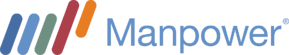 Manpower Web Horizontal Logo for Dark Background