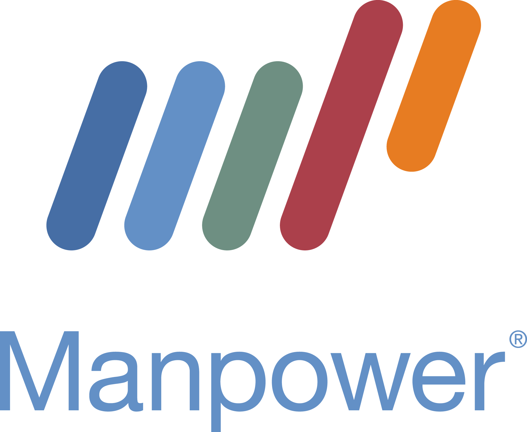 Manpower Web Stacked Logo for Dark Background